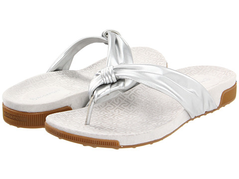 Rockport - Jada Tubular Thong (Silver Nickel) Women's Sandals