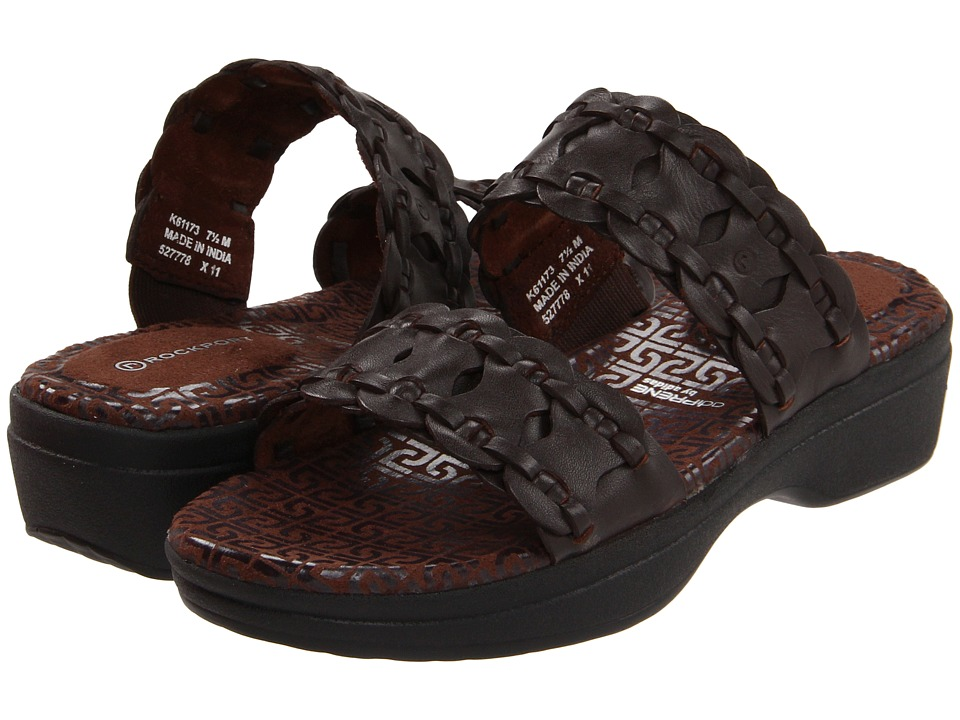 Rockport - Fanessa 2 Strap Slide (Deep Mahogany) Women's Sandals