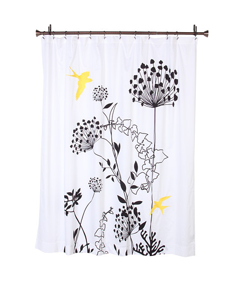 Black White And Yellow Shower Curtain - Mobroi.com