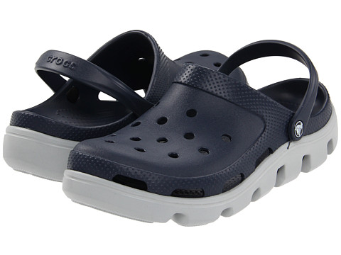 Crocs - Duet Sport Clog (Navy/Light Grey) Shoes