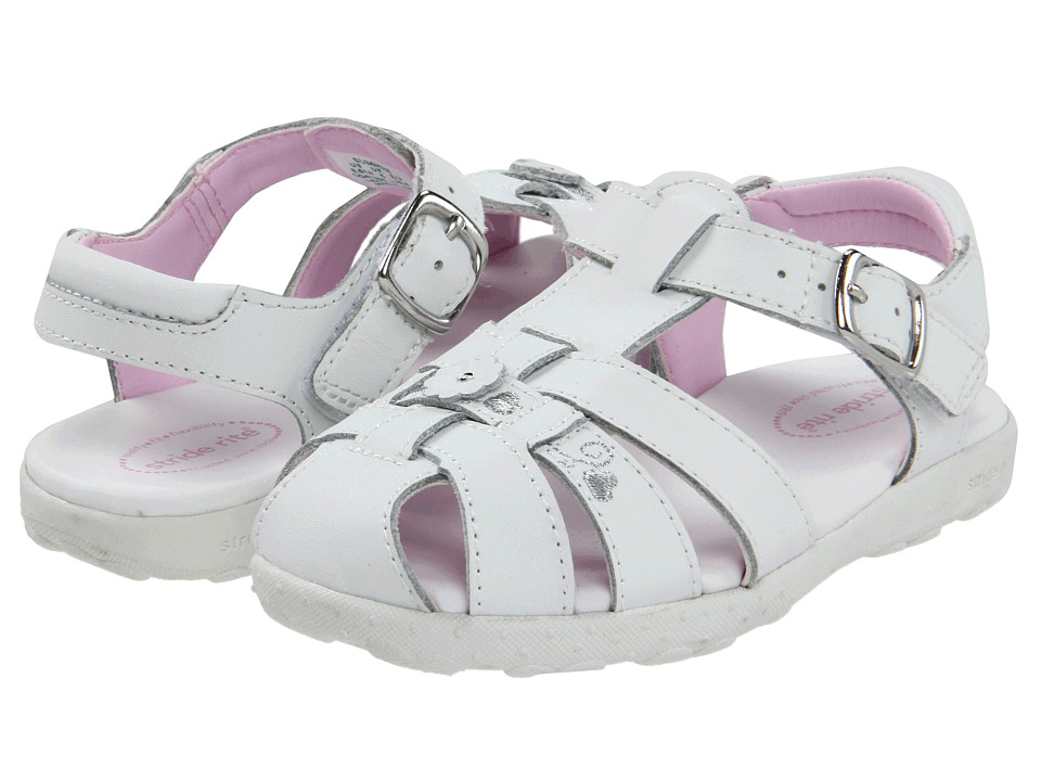 Stride Rite - Summer (Toddler) (White) Girls Shoes