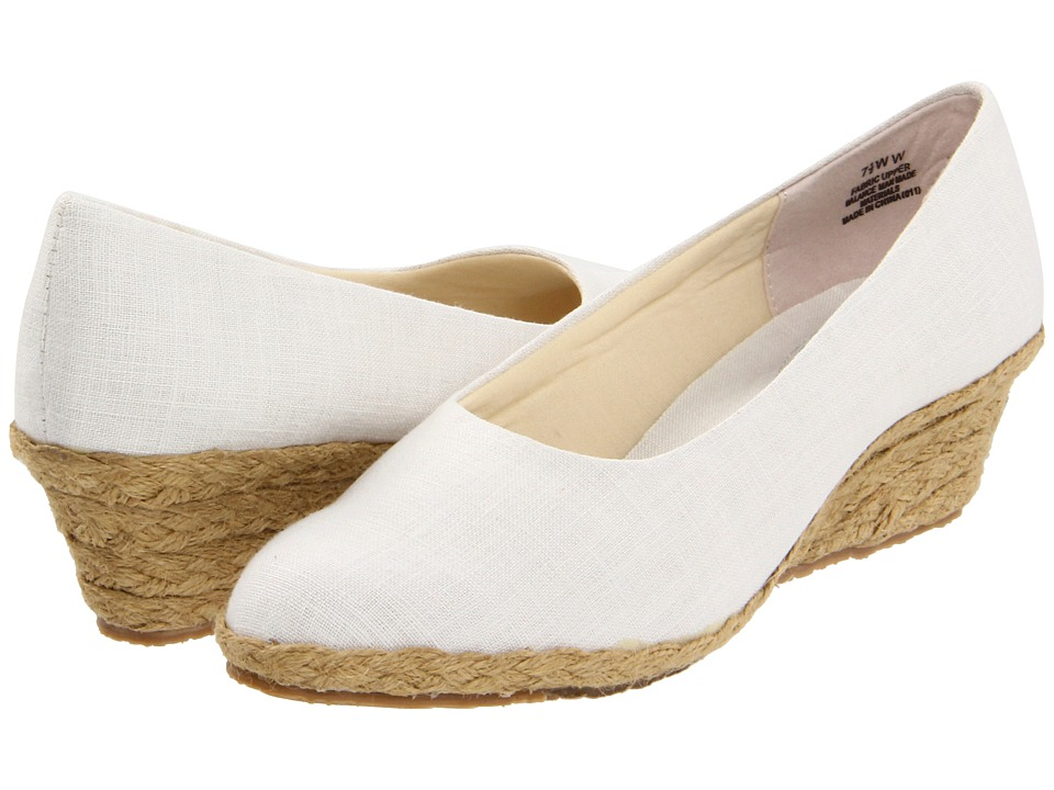 Fitzwell - Westport (White) Women's Wedge Shoes