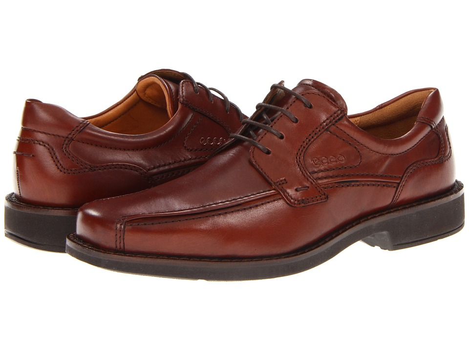 ECCO - Seattle Bicycle Toe Tie (Cognac) Men's Lace up casual Shoes
