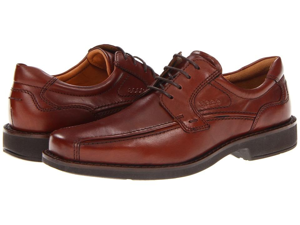 ECCO - Seattle Bicycle Toe Tie (Cognac) Men's Lace up casual Shoes