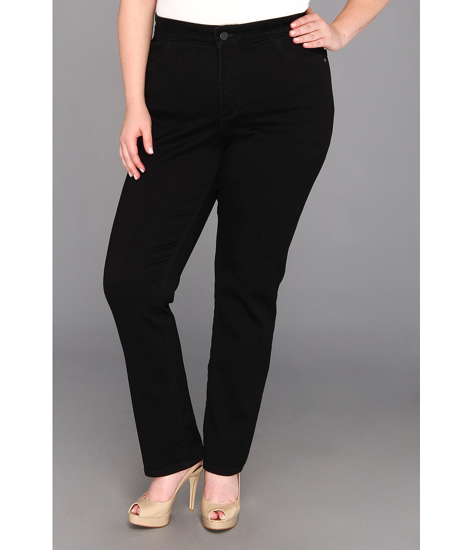NYDJ Plus Size - Plus Size Janice Legging Super Stretch Denim (Black) Women's Jeans