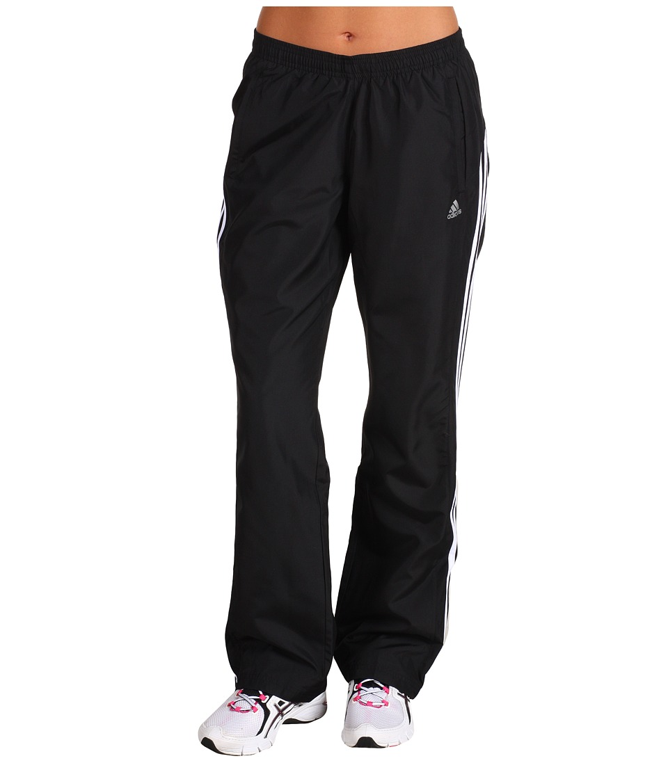 adidas - 3-Stripes Wind Pant (Black/White/Reflective Silver) Women's Workout