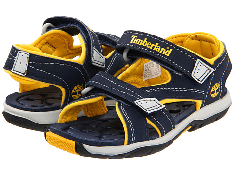 Timberland Kids - Mad River 2-Strap Sandal (Toddler/Little Kid) (Navy/Yellow) Boys Shoes