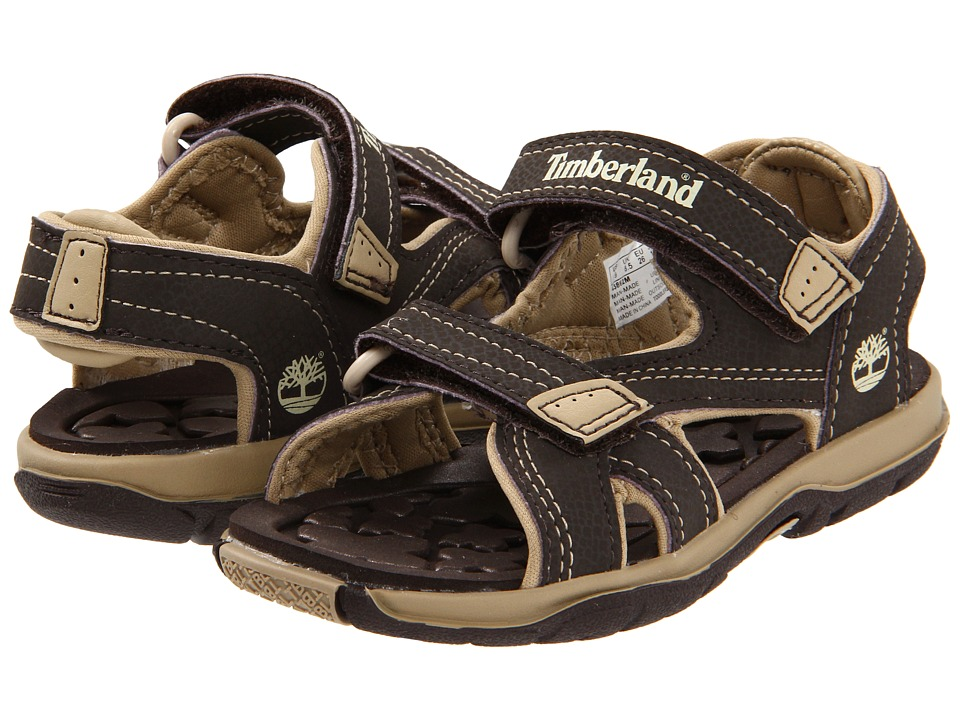 Timberland Kids - Mad River 2-Strap Sandal (Toddler/Little Kid) (Dark Brown/Tan) Boys Shoes