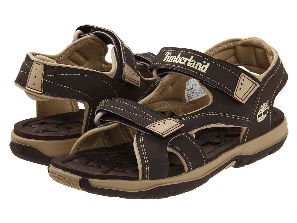 Timberland Kids - Mad River 2-Strap Sandal (Big Kid) (Dark Brown/Tan) Boys Shoes