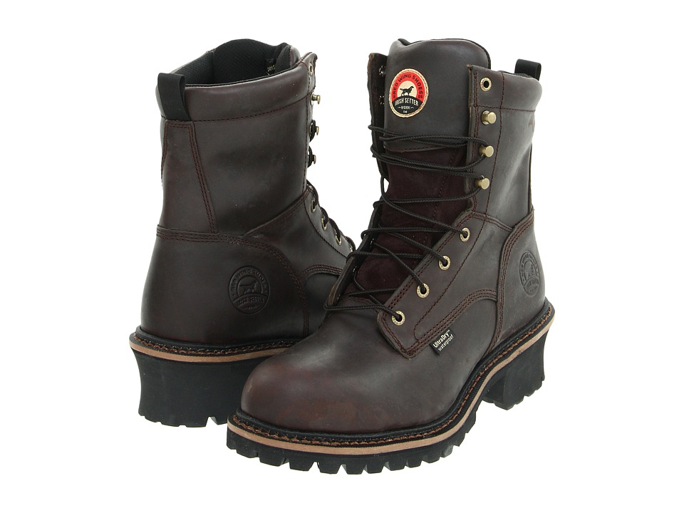 Irish Setter - 83808 8 Steel Toe Waterproof Logger (Brown) Men