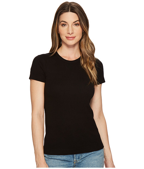 Three Dots - Essentials Short Sleeve Crew (Black 2) Women's T Shirt