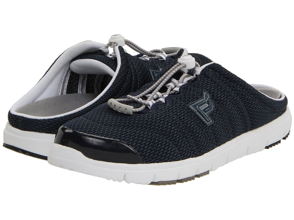 Propet - Travel Walker Slide (Navy Mesh) Women