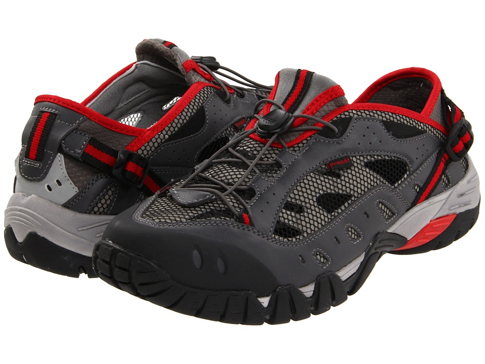 Propet - Endurance (Black/Grey/Red) Men