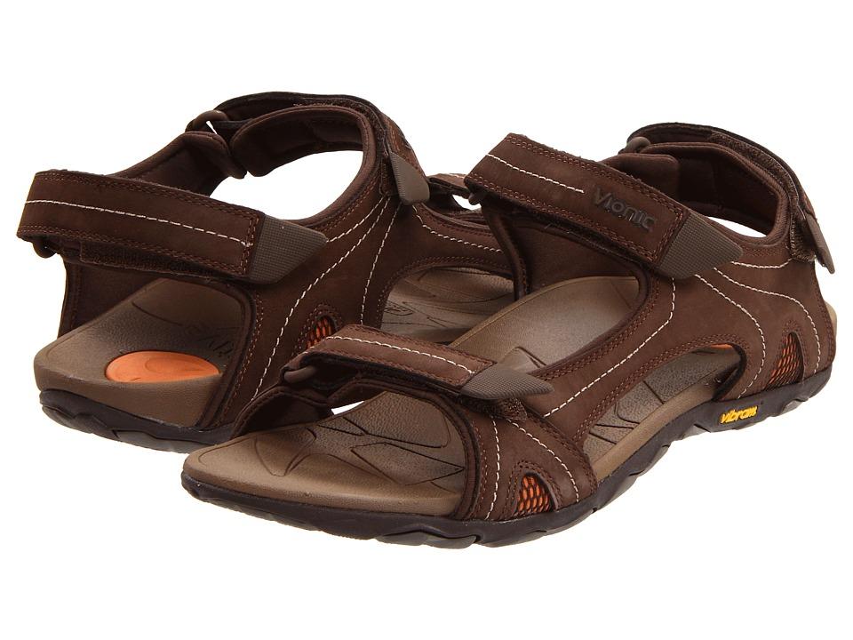 VIONIC - Boyes (Chocolate) Men's Sandals