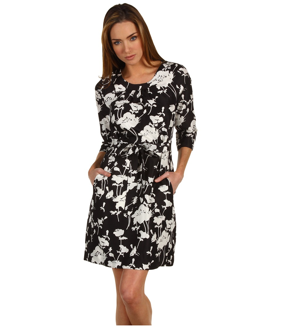 Kate Spade New York Dorothy Three Quarter Sleeve Dress Womens Dress (Black)