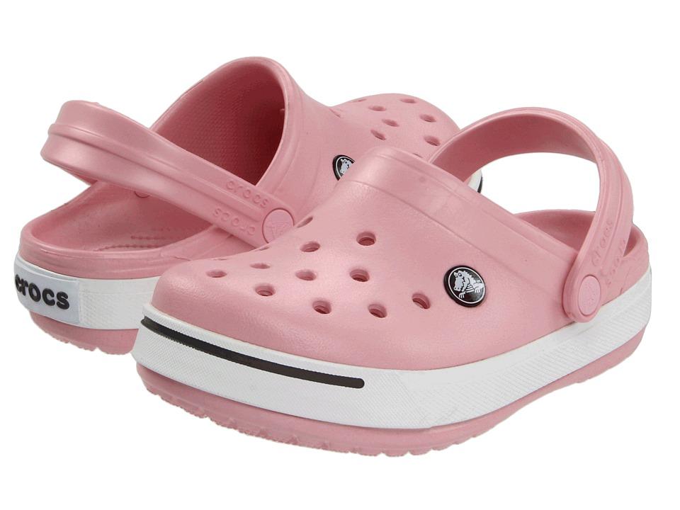 Crocs Kids Crocband II (Toddler/Little Kid) (Petal Pink/Graphite) Girls Shoes
