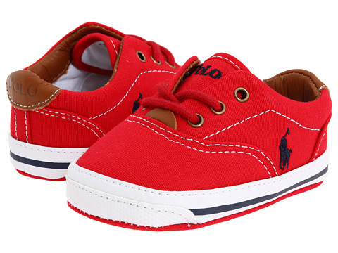 Ralph Lauren Layette Kids - Vaughn (Infant/Toddler) (Ribbon Red/Blue Atoll/Ivory) Girl's Shoes