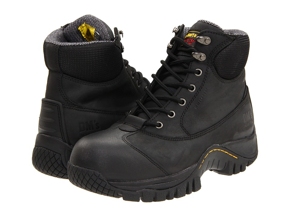 Dr. Martens - Heath ST 7 Tie Boot (Black Industrial Greasy) Men's Work Lace-up Boots