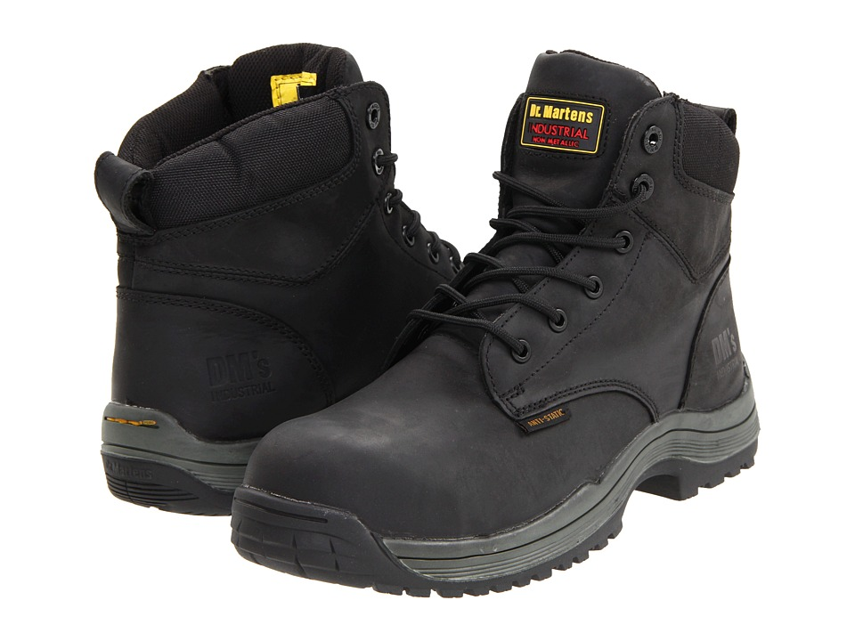 Dr. Martens Work - Falcon SD 6 Tie Boot (Black Industrial Greasy) Men's Work Lace-up Boots