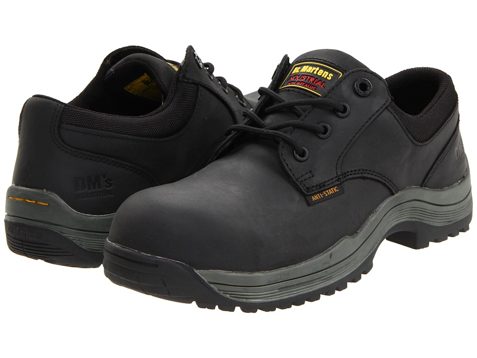 Dr. Martens Work - Hawk SD 4 Eye Shoe (Black Industrial Greasy) Men's Industrial Shoes