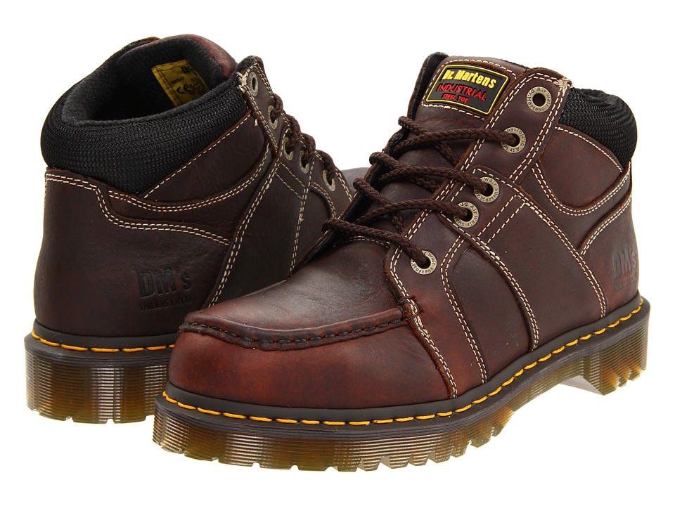 Dr. Martens - Darby ST 5 Eye Moc Toe Boot (Teak Industrial Bear) Men's Work Lace-up Boots