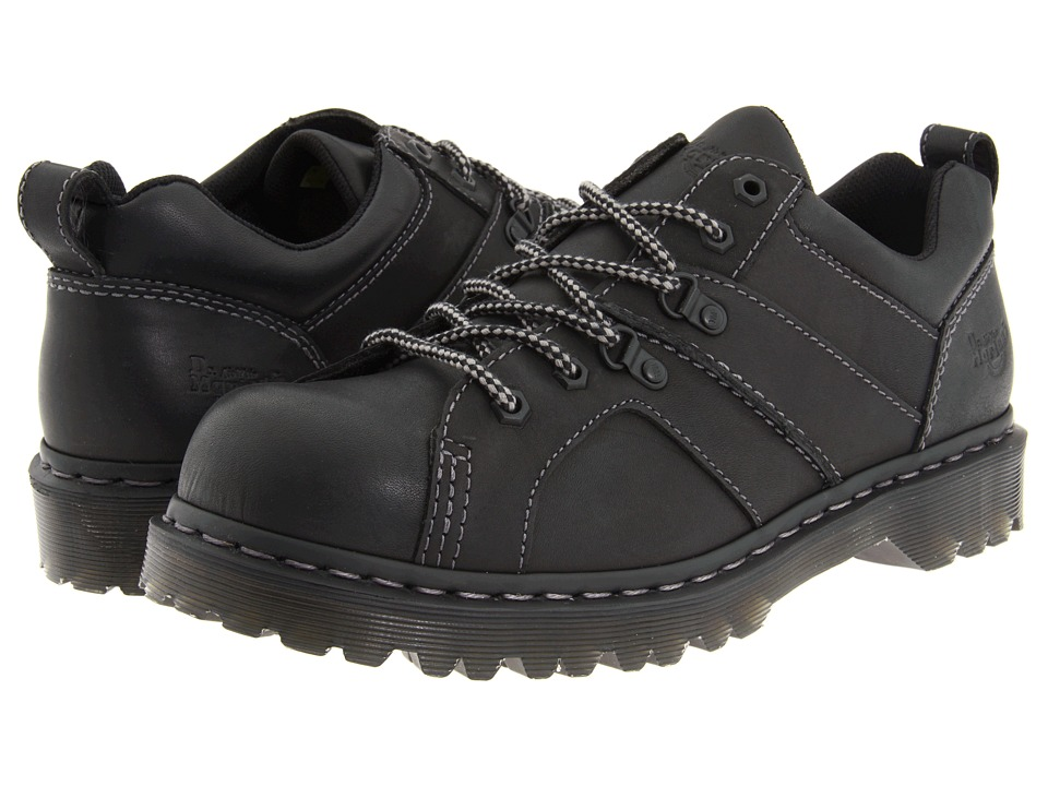 Dr. Martens - Finnegan 6 Tie Shoe (Black Greasy) Men's Lace up casual Shoes