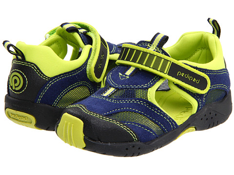 pediped - Delmar Flex (Toddler/Little Kid) (Blue) Boys Shoes