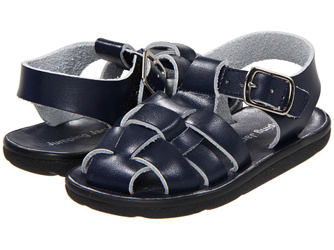Jumping Jacks Kids - Sea Fish (Toddler/Little Kid) (Dark Navy Leather) Boys Shoes