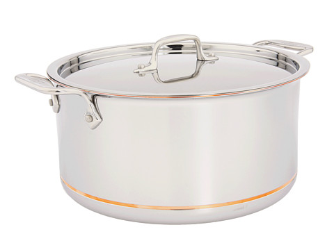 All-Clad Copper-Core 8 Qt. Stock Pot With Lid (Stainless Steel) Individual Pieces Cookware