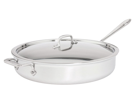 All-Clad MC2 6 Qt. Saut Pan With Lid (Brushed Aluminum) Individual Pieces Cookware