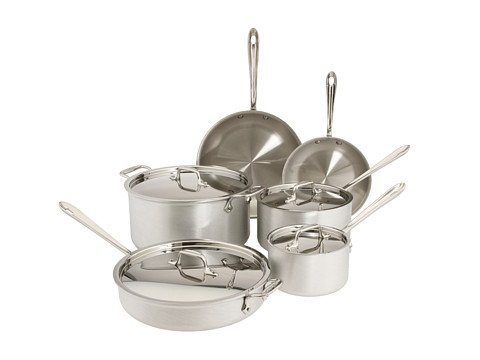 All-Clad MC2 10-Piece Cookware Set (Brushed Aluminum) Cookware Sets