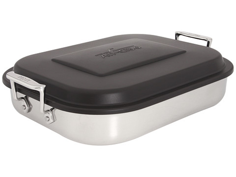 All-Clad Lasagna Pan With Lid (Stainless Steel) Individual Pieces Cookware