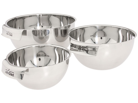 All-Clad Mixing Bowl Set (Stainless Steel) Individual Pieces Cookware