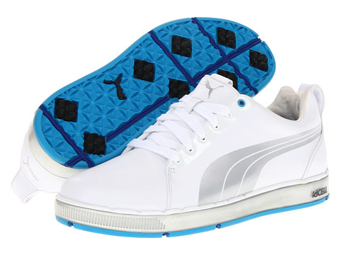 PUMA Golf - HC Lux (White/Puma Silver/Vivid Blue) Men