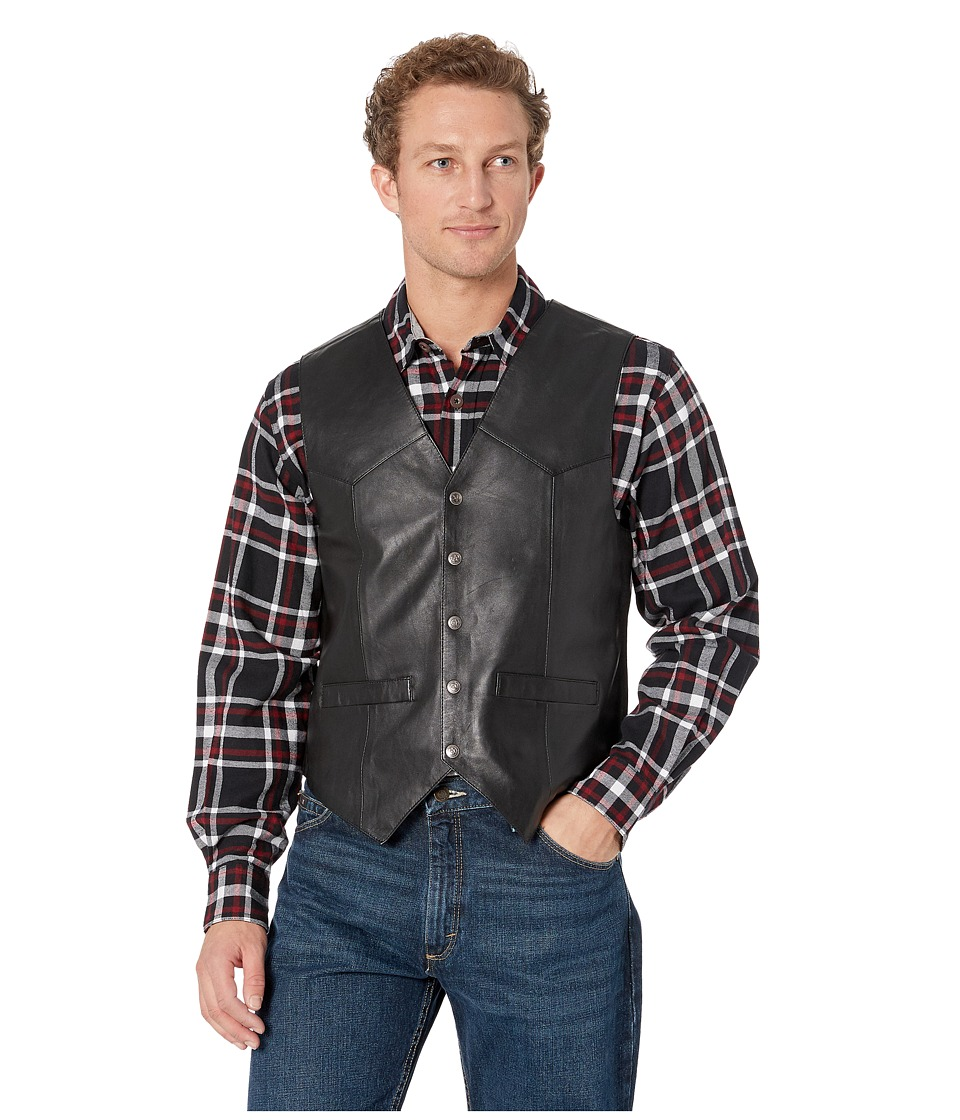 Scully - Leather Vest (Black) Men's Jacket