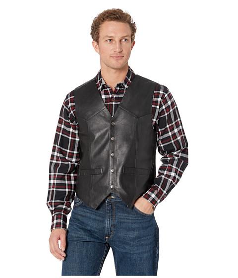 Scully - Leather Vest (Black) Men
