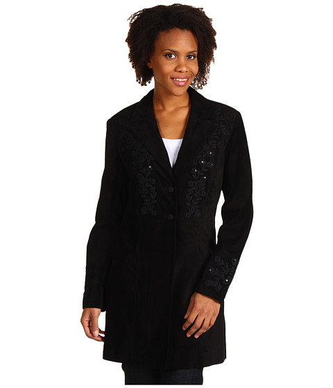 Scully - Ladies Equence Jacket (Black Suede) Women's Jacket
