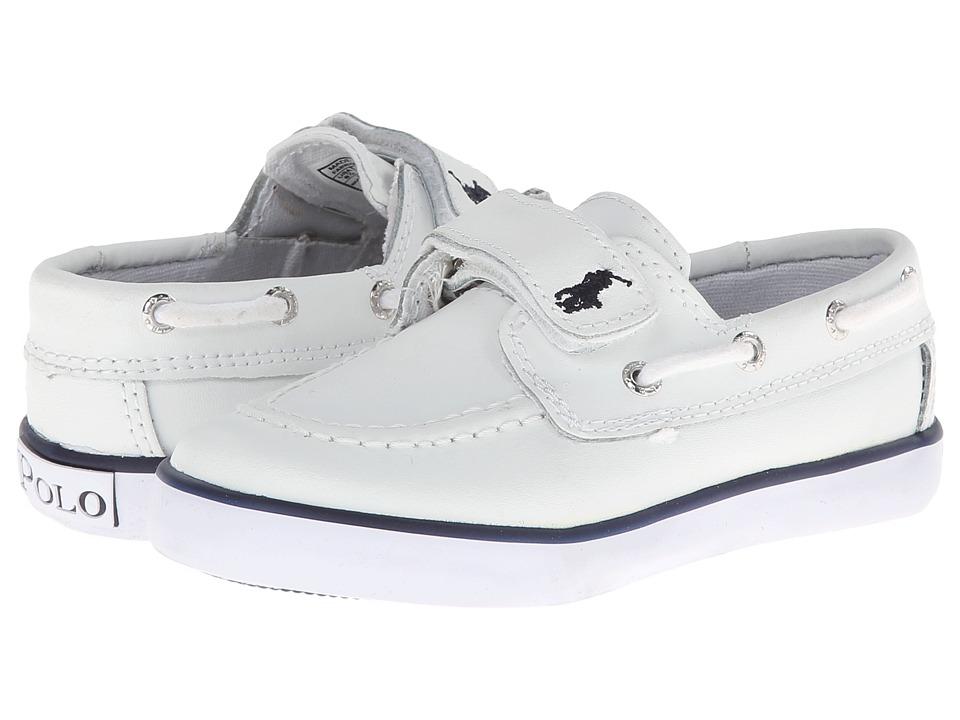 Polo Ralph Lauren Kids - Vulcanized Sander EZ SP12 (Infant/Toddler) (White Leather) Kid's Shoes