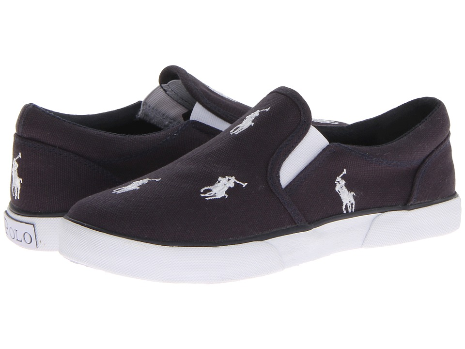 Polo Ralph Lauren Kids - Vulcanized Bal Harbour Repeat SP12 (Little Kid) (Navy Canvas/White Ponies) Boys Shoes