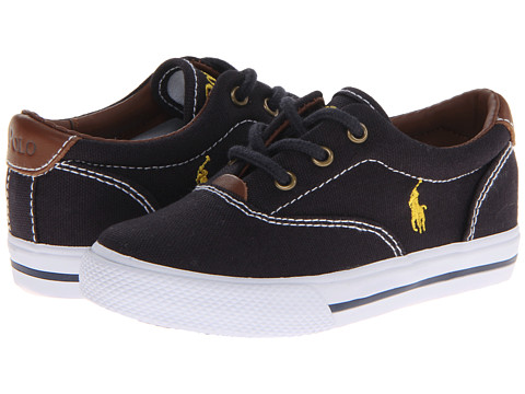 Polo Ralph Lauren Kids - Vulcanized Vaughn SP12 (Toddler) (Navy Canvas) Boys Shoes