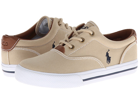 Polo Ralph Lauren Kids - Vulcanized Vaughn SP12 (Little Kid) (Khaki Canvas) Boys Shoes
