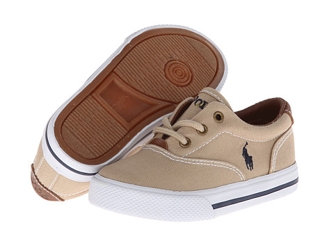 Polo Ralph Lauren Kids - Vulcanized Vaughn SP12 (Toddler) (Khaki Canvas) Boys Shoes