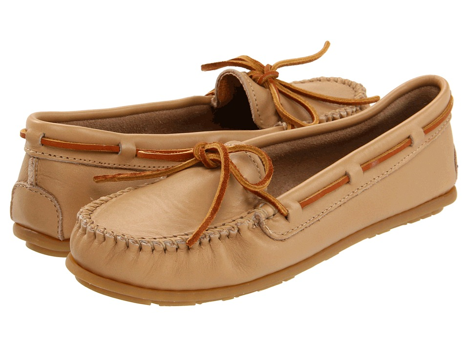 Minnetonka - Leather Moc (Sand) Women's Moccasin Shoes