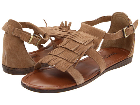 Minnetonka - Maui (Taupe) Women's Toe Open Shoes