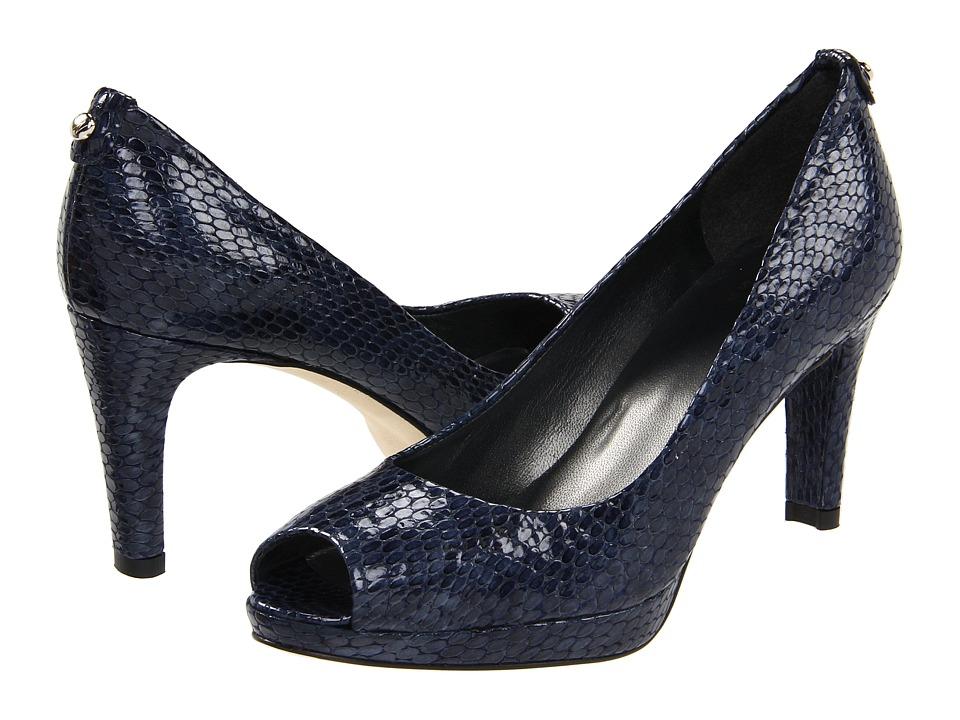 Stuart Weitzman - Logoplainfield (Sea Crystal Snake) Women's Toe Open Shoes
