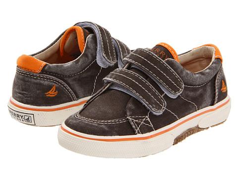 Sperry Top-Sider Kids - Halyard HL (Toddler/Little Kid) (Brown/Orange Canvas) Boys Shoes