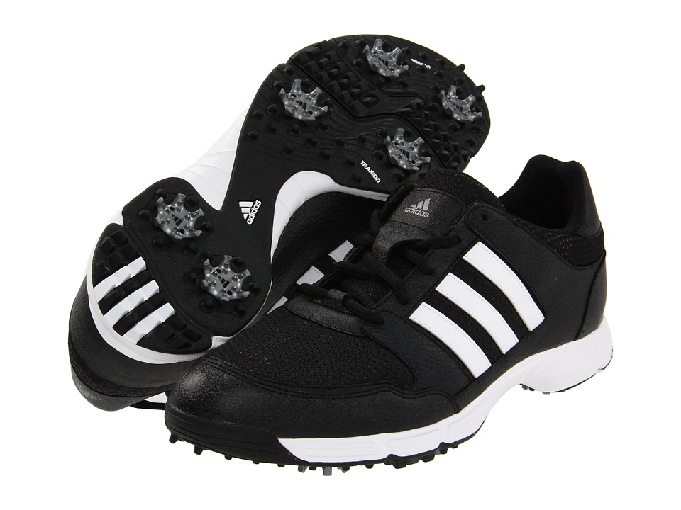 adidas Golf - Tech Response 4.0 (Black/Black/White Multi Snake) Men's Golf Shoes