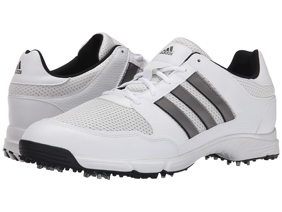adidas Golf - Tech Response 4.0 (White/White/Dark Silver Metallic) Men's Golf Shoes