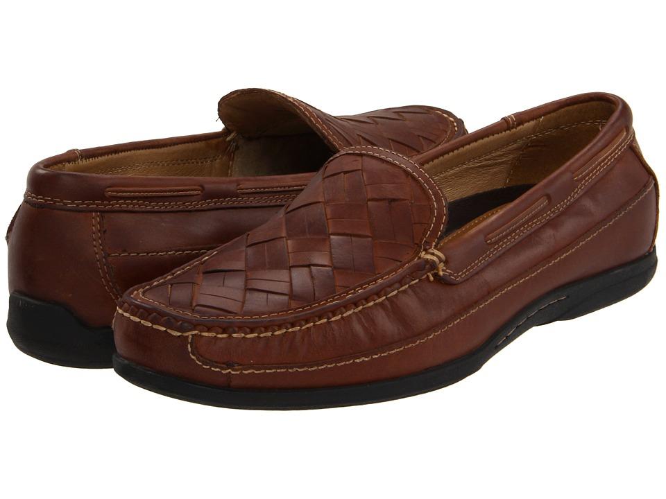 Johnston & Murphy - Trevitt Woven Venetian (Tan Full Grain) Men's Slip on Shoes
