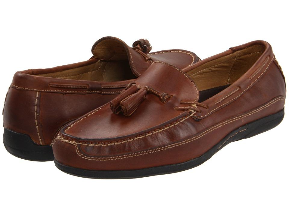 Johnston & Murphy - Trevitt Tassel (Tan Full Grain) Men's Slip on Shoes
